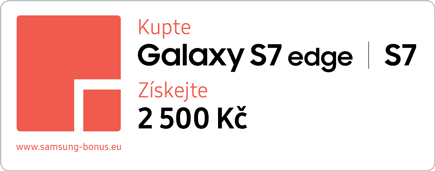 Cashback 2.500 Kč při nákupu Galaxy S7 a Galaxy S7 Edge